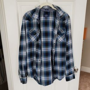 American eagle snap flannel